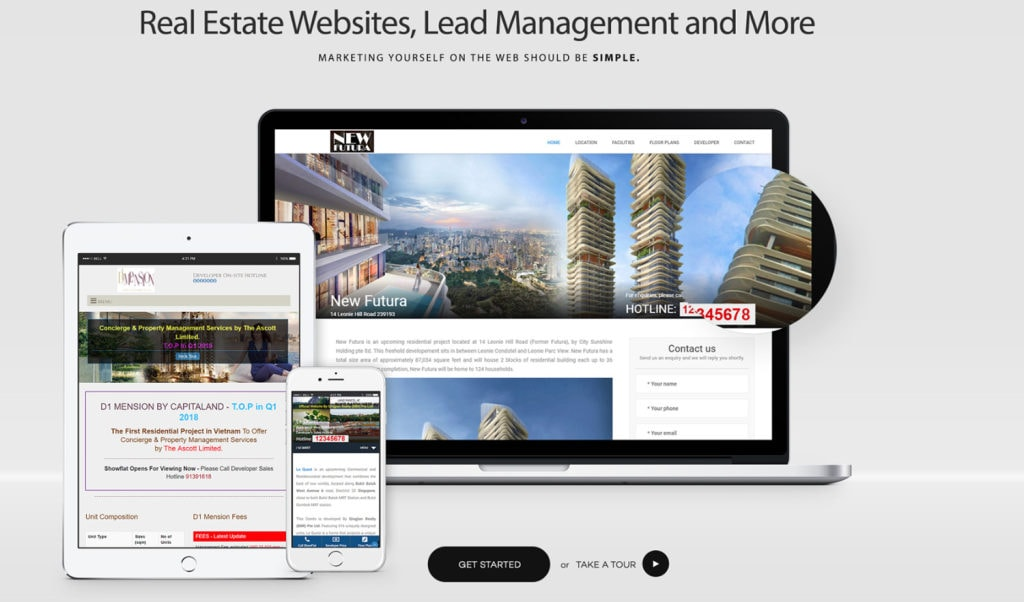 a responsive property website